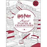 Harry Potter Magical Places Characters Postcard Coloring B