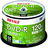 【Amazon.co.jp限定】 バッファロー DVD-R 1回録画用 4.7GB 50枚 スピンドル 片面 1-16倍速 ホワイトレーベル RO-DR47V-050PW/N