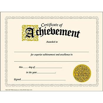 amazon 英語版賞状 certificate of achievement t11305 授業