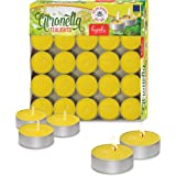 Tealight Citronella Candles - Anti Mosquito Candle - 4 Hour Burn - 100 Pack - DEET Free