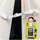Door Buddy Baby Proof Door Lock with Adjustable Strap (Grey). No Need for Baby Gate. Child Proof Room with Litter Box While C