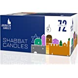 Shabbat Candles - Traditional Shabbos Candles - 3 Hour - 72 Count, Wax, White, 1-Pack
