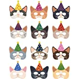 Since1989 Cat Masks Kitten Masks Halloween Masks for Cat Party Kitty Party, Kitty Cat Birthday Party Costumes Dress-Up for Ki