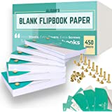 Blank Flip Book Paper With Holes, 450 Sheets Animation Drawing Flipbook Paper Set Works With Flip Book Kit Light Pad, Premium