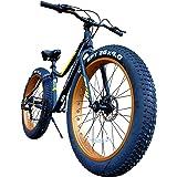 TRINX(トリンクス) ビーチクルーザー 【ファットバイク】迫力の極太タイヤ Wディスクブレーキ 軽量アルミフレーム Shimano7段変速 26インチ26x4.1 スノーバイク FATBIKE T106