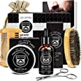 MALE GOD Beard Kit, Beard Growth Kit For Men Gifts, Natural Organic Beard Oil, Beard Balm, Beard Comb, Beard Brush, Beard Sci