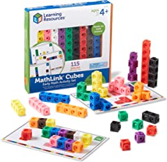 Learning Resources LER4286 Mathlink Cubes Early Math Activity Set (115 Piece)
