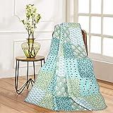 RAJRANG BRINGING RAJASTHAN TO YOU Quilted Decorative Patchwork Throw Blanket Multi Color Super Soft Warm Indian Vintage Quilt