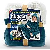 Ontel Huggle Hoodie Ultra Plush Blanket Hoodie - Sea Blue