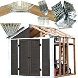 50% Structurally Stronger Truss Design Easy Shed Kit Builds 6'–14' Widths Any Length - Storage Shed Garage Barn, Peak Roof 2x