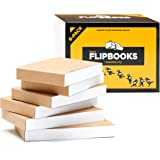 "Blank Flipbooks (Flip Book) for Animation, Sketching, and Cartoon Creation, 6 Pack, 4.5"" x 2.5"", 180 Pages (90 Sheets) :: Thi"