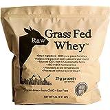Raw Grass Fed Whey 5LB - Happy Healthy Cows, COLD PROCESSED Undenatured 100% Grass Fed Whey Protein Powder, GMO-Free + rBGH F