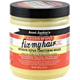 Aunt Jackie's Flaxseed Recipes Fix My Hair, Intensive Repair Conditioning Masque, Helps Prevent and Repair Damaged Hair, 15 O
