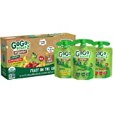 GoGo squeeZ Organic Applesauce, Variety Pack (Apple/Banana/Strawberry), 3.2 Ounce (12 Pouches), Gluten Free, Vegan Friendly,
