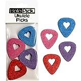 BoloPick Felt Ukulele Picks (8) with Easy to Hold Cutout Heart for Ukulele (8 Pack Original)