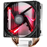 Cooler Master Hyper 212 LED CPU Cooler with PWM Fan, Four Direct Contact Heat Pipes, Unique Blade Design and Red LEDs