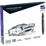 Prismacolor 3622 Marker Set 12 Chisel/Fine - Cool Grey Markers