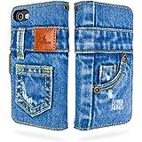 「UK Trident」本格デニム iPhone7 / iPhone8 / iPhone SE 第2世代 兼用 手帳型アイフォンケース