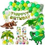 XDDIAS Dinosaur Birthday Party Decorations for Boys Girls,111 Pcs Dinosaur Theme Party Supplies Including Safari Foil Balloon