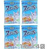 常陸化工 【日本製】 紙製猫砂 ファインブルー (トイレに流せる 色がかわる 固まる) (14L×4袋)