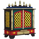 Home Temple, Wooden Temple, Pooja Mandir for Home (Medium-18 X 12 X 24 (WXDXH) inch, Green) / Temple for Home/Mandir for Home