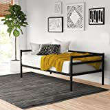 Zinus Marie Metal Single Daybed |Strong Steel Frame Indoor Split-Rail Day Bed Frame