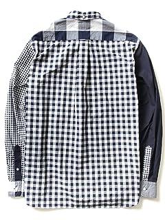 Indigo Crazy Pattern Buttondown Shirt 11-11-2476-139: Navy