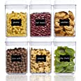Airtight Food Storage Containers, Vtopmart 6 Pieces Small BPA Free Plastic Cereal Containers with Easy Lock Lids,for Kitchen
