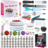 Cake Decorating Supplies Kit 2020 Newest 206 PCS Baking Set for Beginners with Cake Turntable Stand Rotating Turntable,Russia