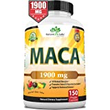Organic Maca Root Black, Red, Yellow 1900 MG - 150 Vegan Capsules Peruvian Maca Root Gelatinized 100% Pure Non-GMO Supports R