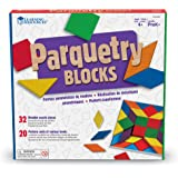 Learning Resources Parquetry Blocks Activity Set,10 L x 10 W in,Multi-color,LER0289