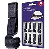 Helmet Clips for Headlamp, Easily Mount Hard Hat Accessories, Headlamp Hook on Helmet, Hard hat, Safety Cap Strap - Flashligh