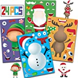Joy Day Kids Christmas Stickers 24 Make A Snowman/Santa Claus/Elf/Reindeer Sticker Games Make A Christmas Stickers Christmas