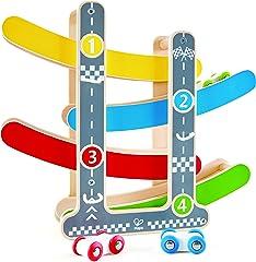 Hape E0438 Fast Flip Racetrack L: 12.5, W: 3.1, H: 11.1 inch