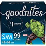 Goodnites Bedwetting Underwear for Boys, S/M, 99 Ct, Stock Up Pack