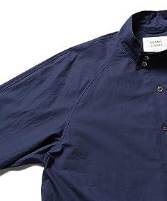 Dog Ear Collar Shirt Blouson 51-18-0232-012: Blue