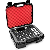 Casematix Studio Mixer Hard Case Fits Rode RODECaster Pro Podcast Production Studio and Accessories, Red Padded Foam Protecti