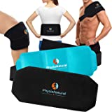 Multipurpose, Reusable Hot & Cold Compress Gel Pack with Secure Wrap for Instant Relief of Back Pain, Sore Shoulders, Swollen