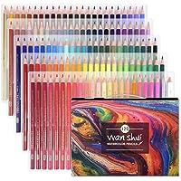 水溶性色鉛筆 Wanshui120色セット 絵の具 画材セット アート鉛筆 塗り絵 美術 描き用 スケッチ用 プレゼント…