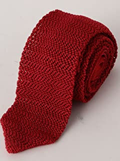 Silk Knit Tie 3134-343-2387: Red