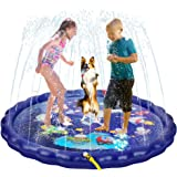 68 Inch Wading Swimming Pool Play Mat,Sprinkler for Kids,Universe Exploration Fun Outdoor Water Spray Toys, Water Toys for To