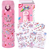 YOFUN Create Your Own Water Bottle with Tons of Rhinestone Gem Stickers - Craft Kit & DIY Art Set for Children Idea for 4 to