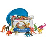 Learning Resources LER0811 Dinosaur Counters Set (60 Piece),Multi-color