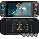 Protective Case for Nintendo Switch, Dockable Case Cover for Nintendo Switch and Joy Con Controller with 4 Thumb Grips (The L