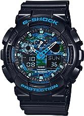 カシオ Gショック G-SHOCK クオーツ メンズ 腕時計 GA-100CB-1A ブルーカモフラ [並行輸入品]