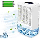 Portable Air Conditioners - Mini AC Unit, 4000mAh Rechargable AC with Timing, 7 Colors Night Light for Camping Car