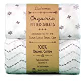 Guava Lotus Travel Crib Sheets (Set of 2) - 100% Organic Cotton Crib Sheets, Baby and Toddler, Fitted Crib Sheets, for Boys &