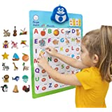 2-in-1 Interactive Alphabet Poster for Kids   Classroom ABC Posters   Wall Chart Decal   Toddler Educational Toys   Children