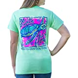 Go with The Flow Sea Turtle Mint Green Cotton Fabric Classic T-Shirt