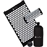Nalu Massage Acupressure Mat Pillow and Spiky Ball Set for Sciatica and Chronic Back/Neck Pain